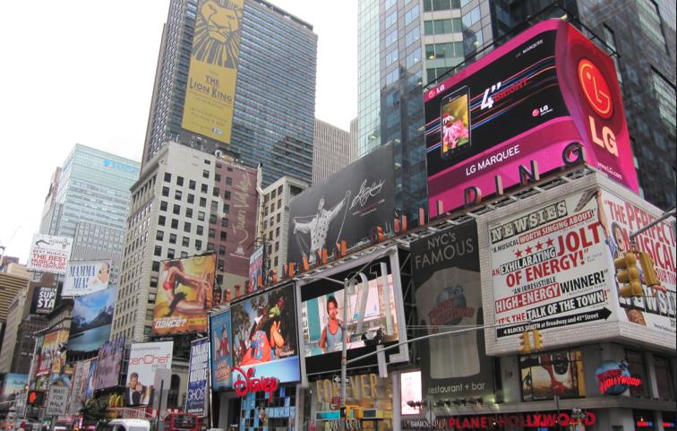 em cartaz na Broadway