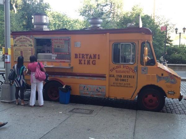 Byrmiani King, caminhão de comida em indiana em Nova Iorque