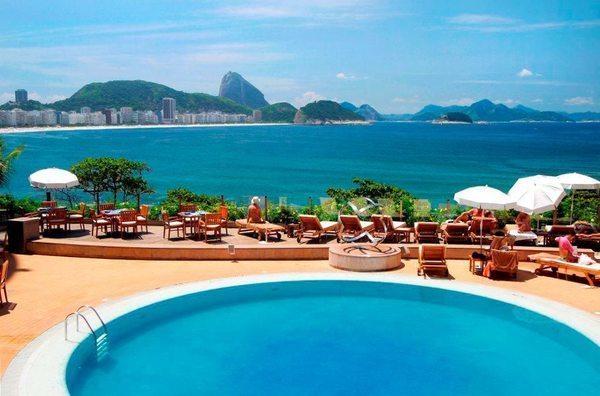 Hotel cinco estrelas na praia de copacabana