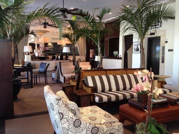 O lobby do Betsy Hotel
