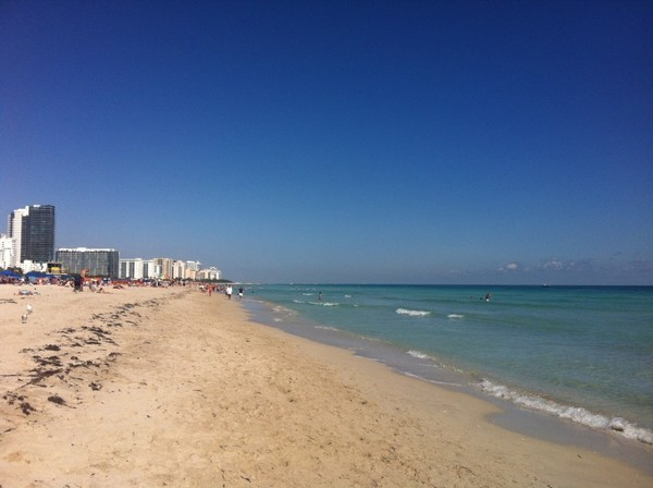 O calmo mar de Miami - South Beach