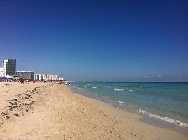 O calmo mar de Miami - South Beach