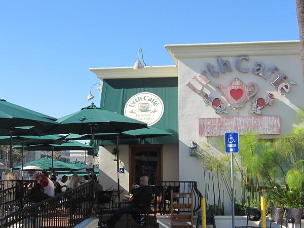 A fachada do melhor café de LA