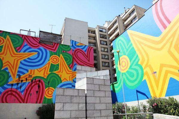 Grafite na estação de metrô de Belas Artes