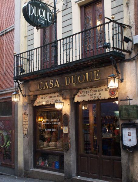 Casa Duque, opção gastronômia em Segovia, Espanha