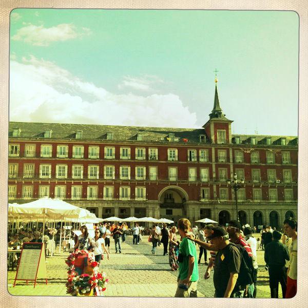 Plaza Mayor em Madri, Espanha