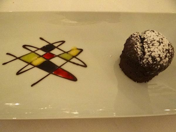 sombremesa de chocolate