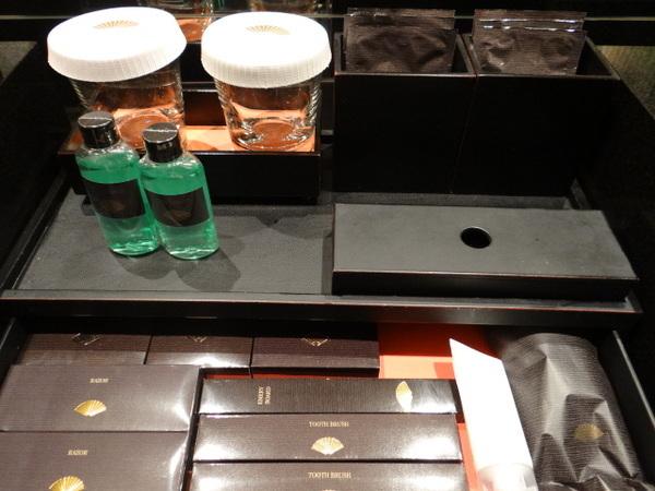 hotel de luxo em Tóquio - detalhes no quarto