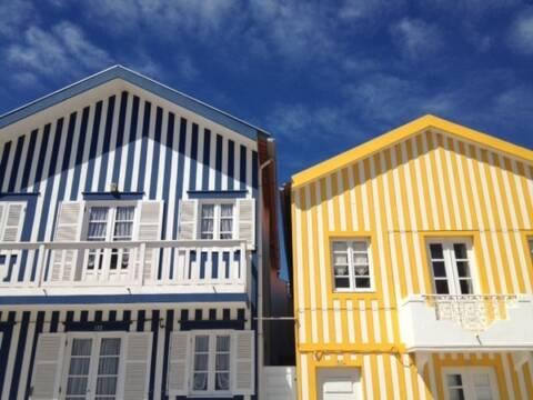 Casas coloridas em Portugal