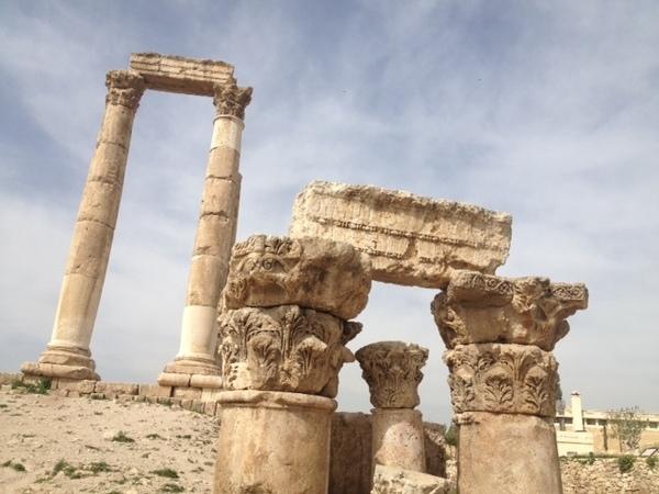 ruínas perto da capital Amã