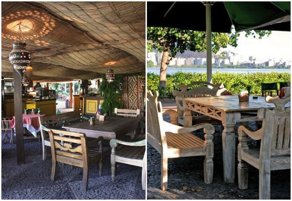 Festa de Ano novo no rio: área interna do Restaurante Arab em Copacabana