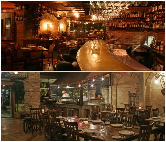 Área interna do restaurante Fratelli na Barra, boa opção para o ano novo no rio