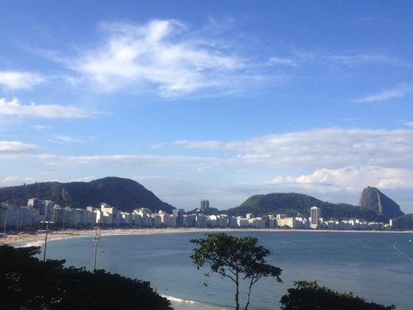 Ano novo no Rio: vista da praia de copacabana