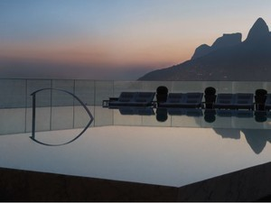 Pôr do Sol visto do Hotel Fasano no Rio de Janeiro