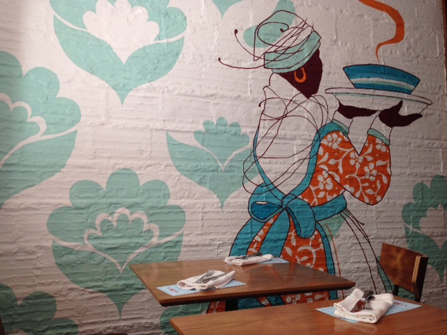 mural restaurante Volta