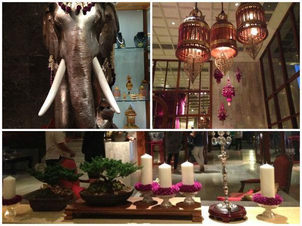 Detalhes da decoração do hotel Mandarin Oriental