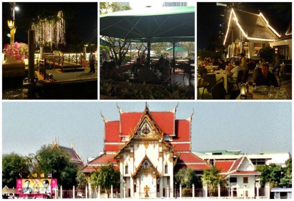 Mosaico de fotos da cidad de Bangcoc