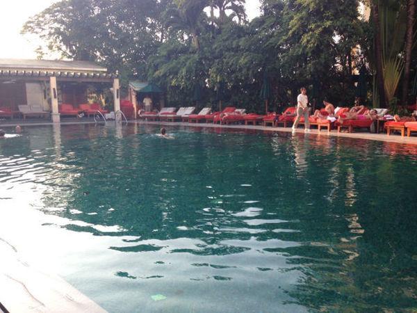 Piscina do hotel Mandarin Oriental em Bangkok