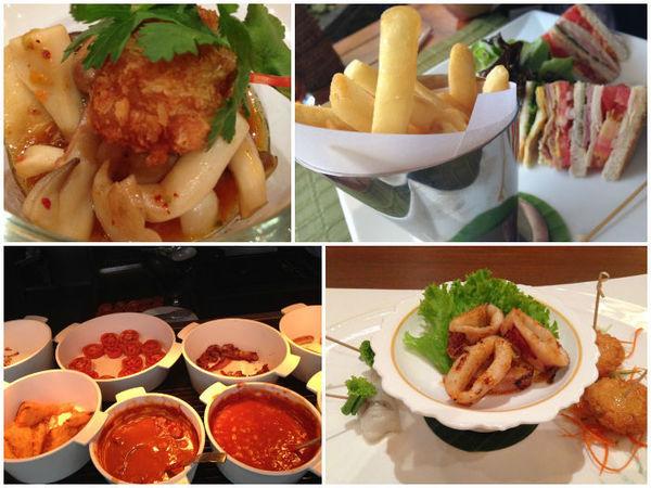 Diversas opções de bares/restaurantes no hotel Mandarin Oriental em Bangkok