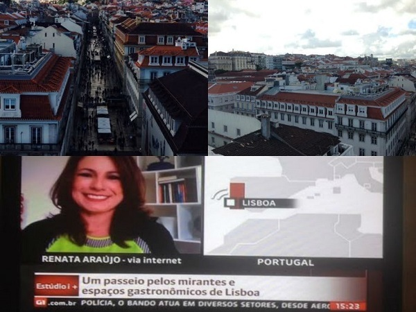 Renata Araújo ao vivo da Europa, na Globonews