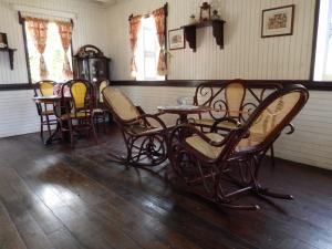 Reprodução de uma sala no interior do Museu