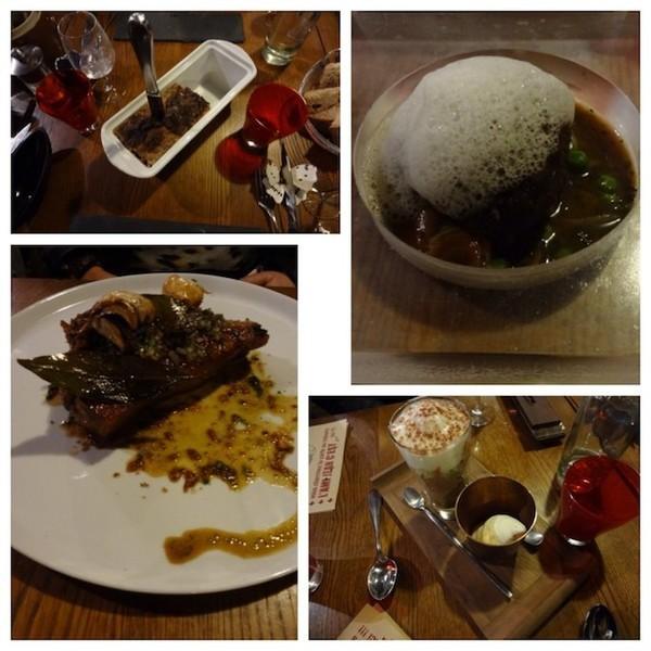 Pratos restaurante L'ami Jean - Paris