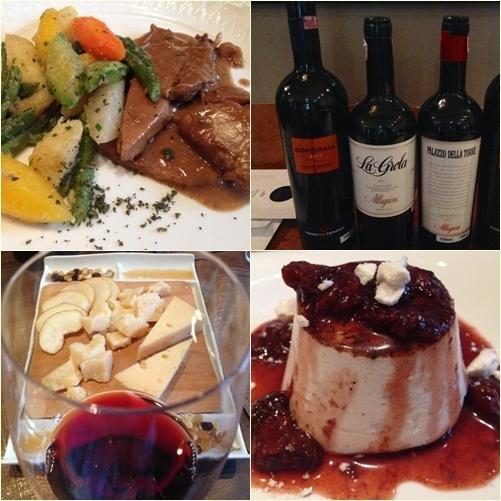 almoço harmonizado vinhos allegrini