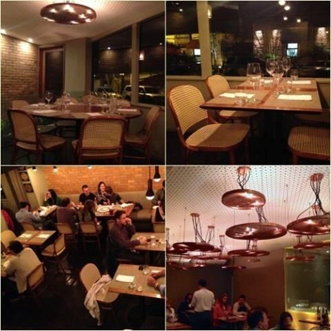 Ambiente restaurante oro