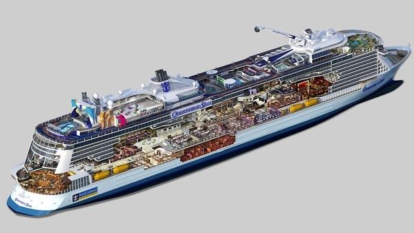 Royal Caribbean luxo em alto mar