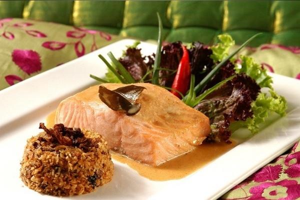 pratos com salmão