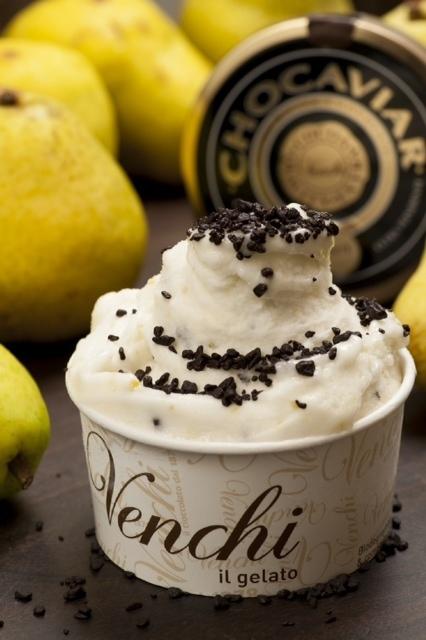 13.11.14 Sorvete de pera com choc caviar Venchi, Leblon Foto: Selmy Yassuda
