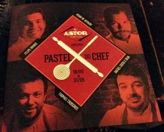 Pastel do Chef no Bar Astor