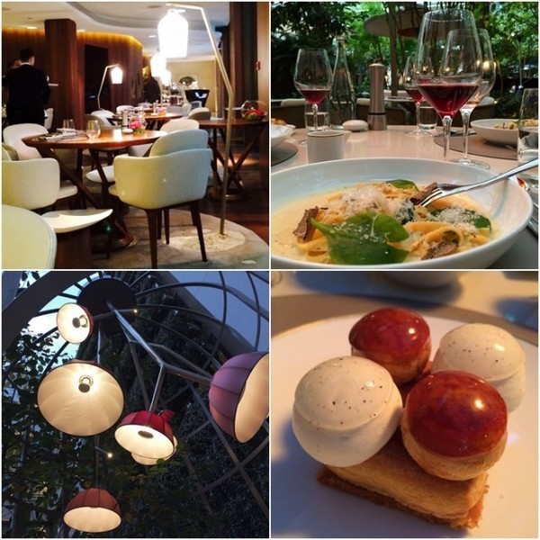 Decoração e pratos servidos nos restaurante Camélia no Mandarin Oriental de Paris