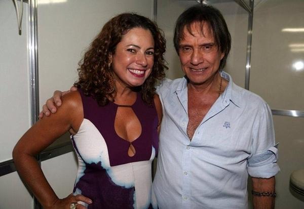 Com o Rei Roberto Carlos no Cruzeiro