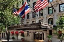 Jantar no Hotel Plaza Athenée NY