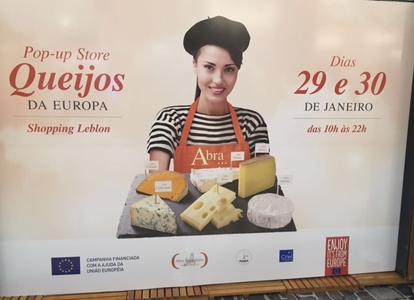 Pop-up Store de Queijos da Europa no Shopping Leblon