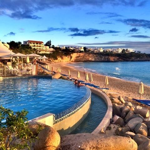 o melhor hotel de Saint Martin - vista