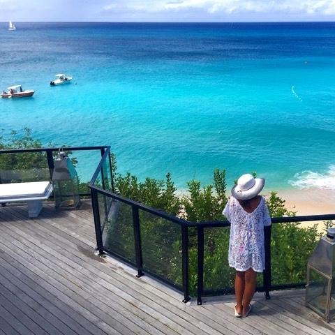 A vista do Hotel em Saint Martin