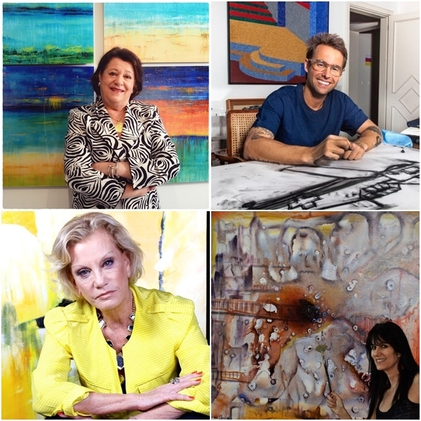Didi Marchi, Marcos Amaral, Fernanda Meirelles e Blima Efraim