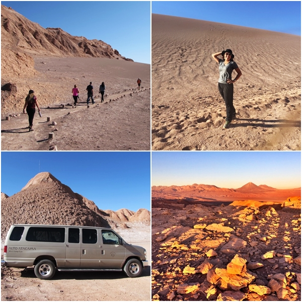O que fazer no Atacama - Caminho para o Vale da Lua e o carro para nos levar até o Vale da Morte