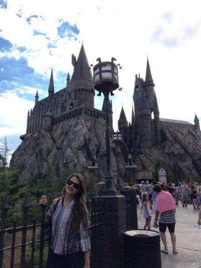 Eu e o Castelo de Hogwarts