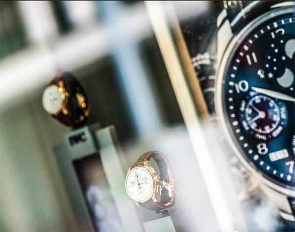 Vitrine de relógios em Genebra