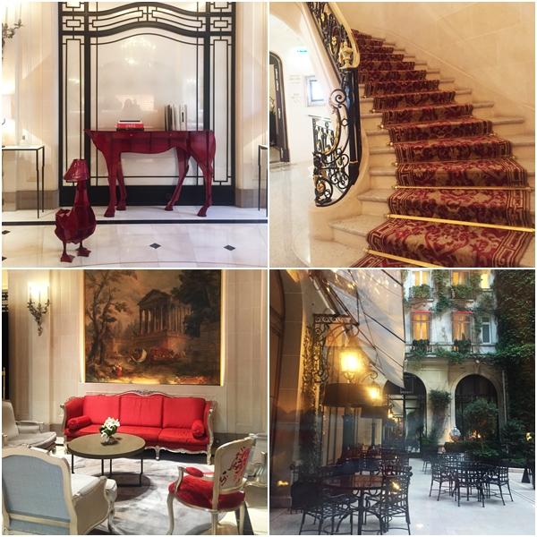 Ambientes do Plaza Athénée - hospedagem 5 estrelas em Paris