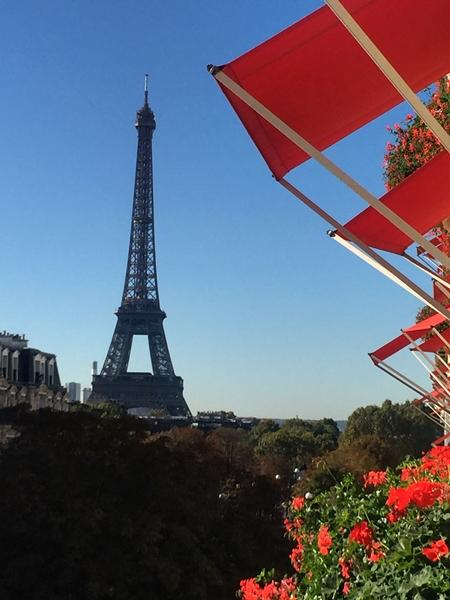 Vista do quarto do Hotel Plaza Athénée Paris