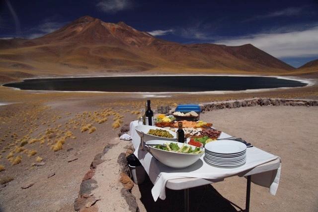 O que fazer no Atacama - Nossa mesa do almoço