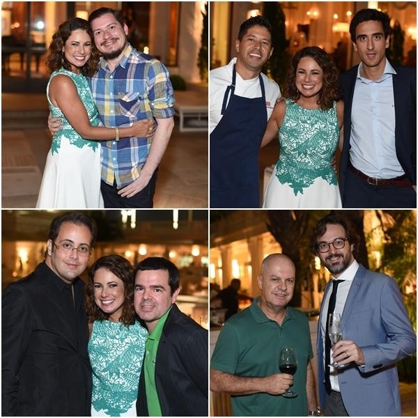 Guilherme Scarpa; com o chef Kazuo Harada (Mee) e ; Alberto Bardawil e Luizinho Costa; Marcelo Castelo Branco e Tomás Rangel