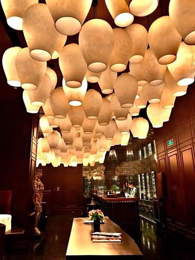 Luminárias na entrada