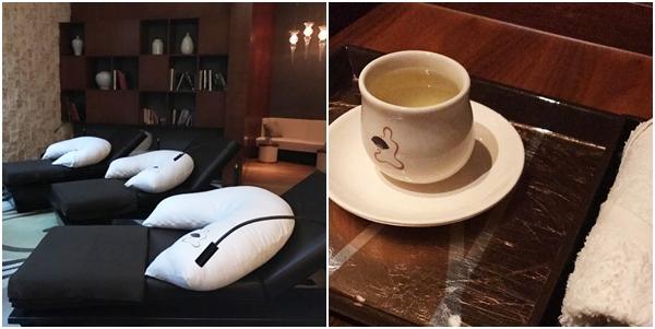 Chá e descanso após massagem