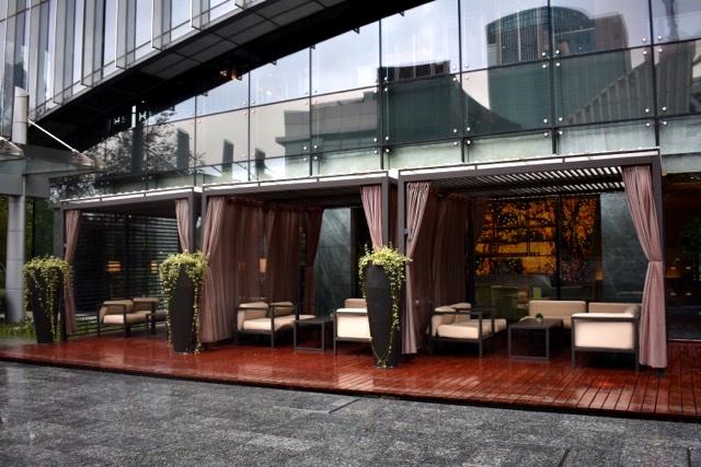Área externa do Hotel