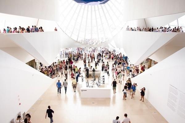 Público no museu